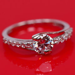 14KT SOLID GOLD 2.15 CARATS TOP QUALITY ROUND SHAPE SOLITAIRE WEDDING RING