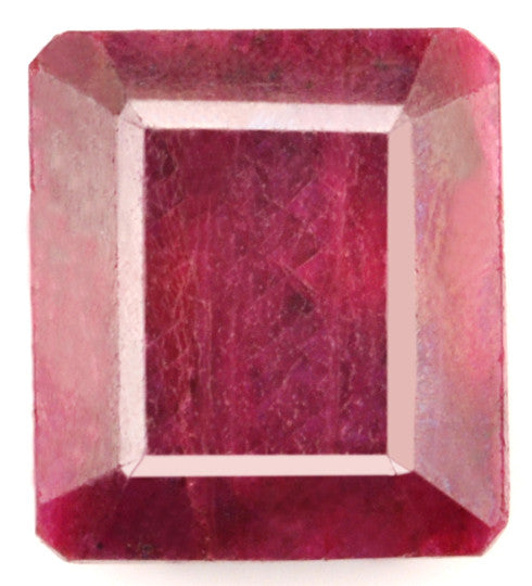 165.70 CARATS WONDERFUL 100% NATURAL RED RUBY LOOSE GEMSTONE OCTAGON SHAPE WITH FREE CERTIFICATE