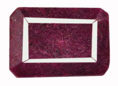 173.95 CARATS FANTASTIC OCTAGON SHAPE 100% NATURAL RED RUBY LOOSE GEMSTONE WITH FREE CERTIFICATE