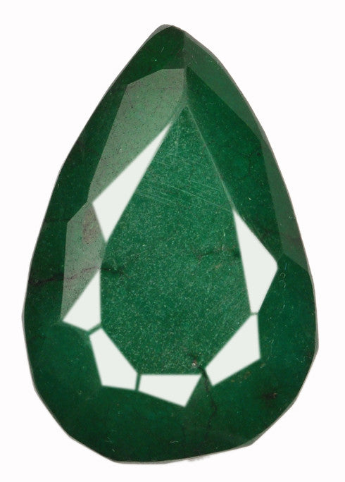 100% NATURAL GREEN EMERALD 218.95 CARATS CLASSY PEAR SHAPE LOOSE GEMSTONE WITH FREE CERTIFICATE