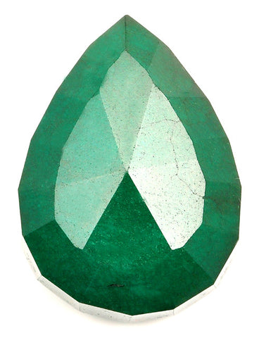 221.85 CARATS PEAR SHAPE 100% NATURAL GREEN EMERALD LOOSE GEMSTONE WITH FREE CERTIFICATE