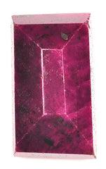 306.35 CARATS 100% NATURAL RED RUBY RECTANGLE SHAPE LOOSE GEMSTONE WITH FREE CERTIFICATE