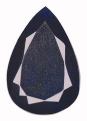 CERTIFIED 100% NATURAL BLUE SAPPHIRE 164.60 CARATS PEAR SHAPE LOOSE GEMSTONE