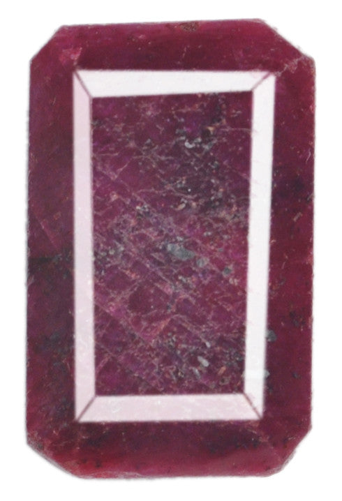 100% NATURAL RED RUBY 99.90 CARATS OCTAGON SHAPE LOOSE GEMSTONE WITH FREE CERTIFICATE