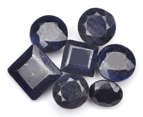 150.00 CARATS 100% CERTIFIED NATURAL BLUE SAPPHIRE MIXED SHAPES LOOSE GEMSTONES 7PCS/ WHOLESALE LOT