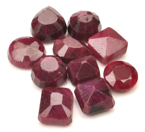 10PCS. 200.85 CARATS 100% NATURAL RED RUBY MIXED SHAPES LOOSE GEMSTONES WHOLESALE LOT WITH FREE CERTIFICATE
