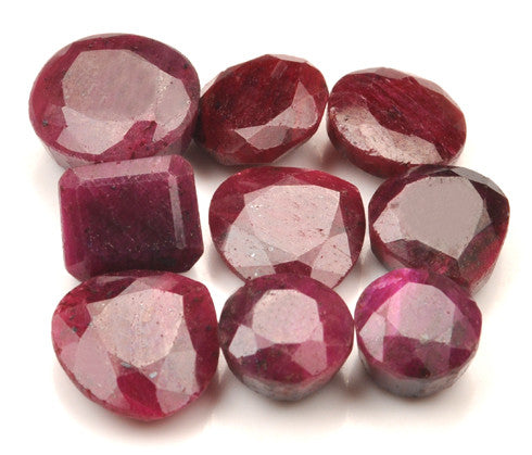 100%  NATURAL RED RUBY 231.40 CARATS MIXED SHAPES 9PCS/ LOOSE GEMSTONES WHOLESALE LOT WITH FREE CERTIFICATE