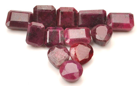 100% CERTIFIED MIXED SHAPES 236.95 CARATS 12PCS. NATURAL RED RUBY LOOSE GEMSTONES WHOLESALE LOT