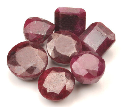 170.00 CARATS 7PCS. 100% NATURAL RED RUBY MIXED SHAPES LOOSE GEMSTONES WHOLESALE LOT WITH FREE CERTIFICATE
