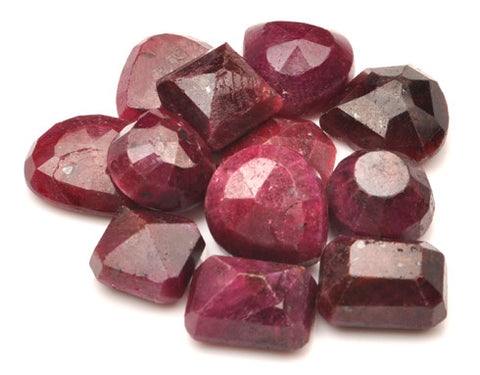 100% NATURAL 12PCS. RED RUBY 292.60 CARATS MIXED SHAPES LOOSE GEMSTONES WHOLESALE LOT WITH FREE CERTIFICATE