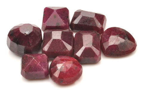 100% NATURAL 8PCS. RED RUBY 178.00 CARATS MIXED SHAPES LOOSE GEMSTONES WHOLESALE LOT WITH FREE CERTIFICATE