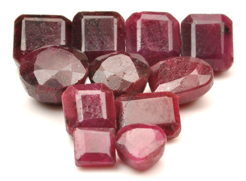 100% NATURAL 11PCS. RED RUBY 139.30 CARATS MIXED SHAPES LOOSE GEMSTONES WHOLESALE LOT WITH FREE CERTIFICATE