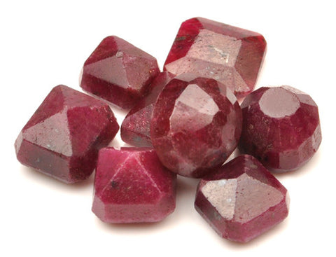 100% NATURAL 8PCS. RED RUBY 127.50 CARATS MIXED SHAPES LOOSE GEMSTONES WHOLESALE LOT WITH FREE CERTIFICATE