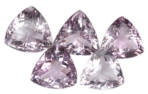 100% CERTIFIED NATURAL AMETHYST 49.50 CARATS TRILLION SHAPES LOOSE GEMSTONES 13PCS/WHOLESALE LOT