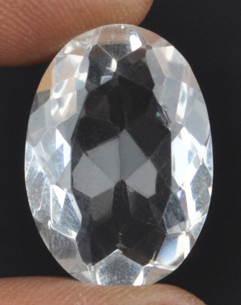 100% CERTIFIED 21.09 CARATS OVAL SHAPE NATURAL WHITE QUARTZ LOOSE GEMSTONE