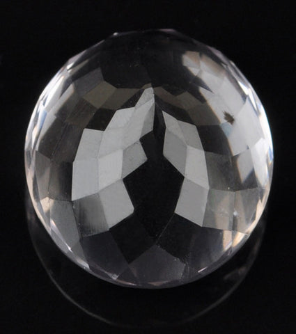 100% CERTIFIED NATURAL WHITE QUARTZ 27.01 CARATS ROUND SHAPE LOOSE GEMSTONE