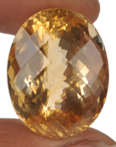 100% CERTIFIED 42.80 CARATS CITRINE OVAL SHAPE NATURAL LOOSE GEMSTONE