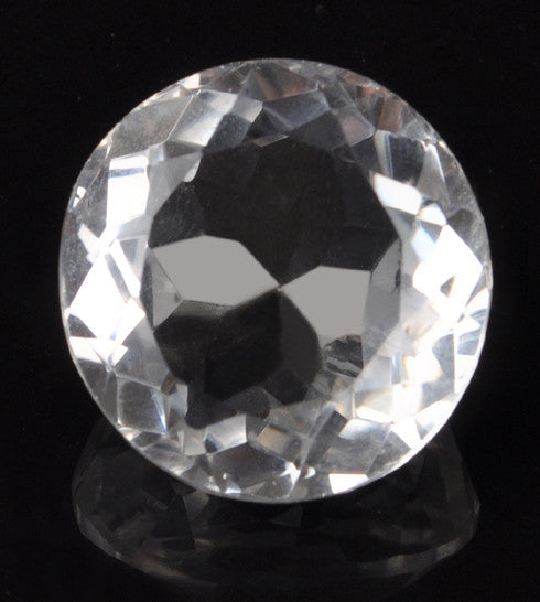 40.07 CARATS 100% NATURAL WHITE QUARTZ ROUND SHAPE LOOSE GEMSTONE WITH FREE CERTIFICATE