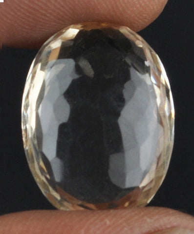 100% NATURAL CITRINE 21.03 CARATS OVAL SHAPE LOOSE GEMSTONE WITH FREE CERTIFICATE
