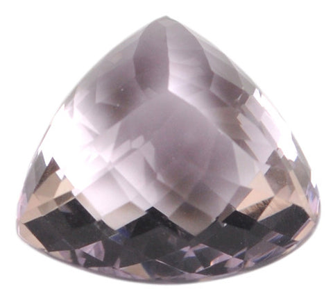 100% NATURAL AMETHYST 21.09 CARATS TRILLION SHAPE LOOSE GEMSTONE WITH FREE CERTIFECATE
