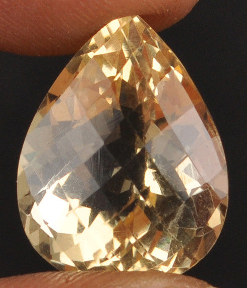 100% CERTIFIED 15.06 CARATS CITRINE PEAR SHAPE NATURAL LOOSE GEMSTONE