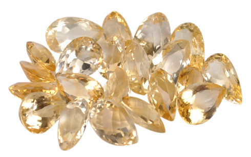 100% CERTIFIED NATURAL CITRINE PEAR SHAPES 104.70 CARATS LOOSE GEMSTONES WHOLESALE LOT