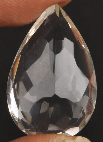 100% CERTIFIED 27.30 CARATS PEAR SHAPE NATURAL WHITE QUARTZ LOOSE GEMSTONE