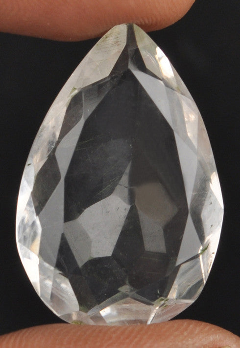 100% CERTIFIED 26.60 CARATS PEAR SHAPE NATURAL WHITE QUARTZ LOOSE GEMSTONE