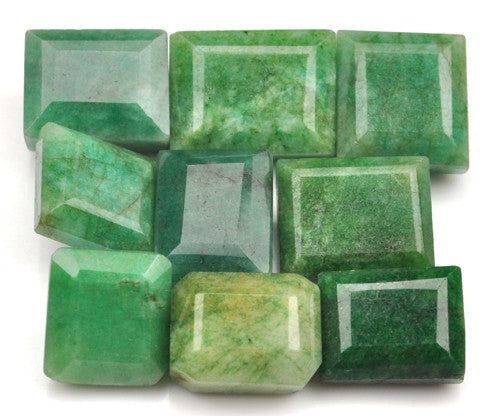 100% CERTIFIED 9PCS. NATURAL EMERALD 131.00 CARATS MIXED SHAPES LOOSE GEMSTONES WHOLESALE LOT