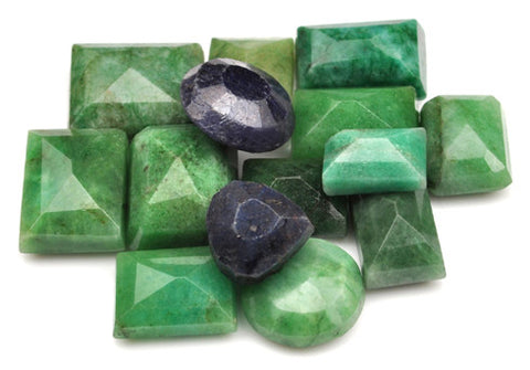 100% CERTIFIED 186.00 CARATS NATURAL BLUE SAPPHIRE,EMERALD MIXED SHAPES 16PCS/LOOSE GEMSTONES WHOLESALE LOT