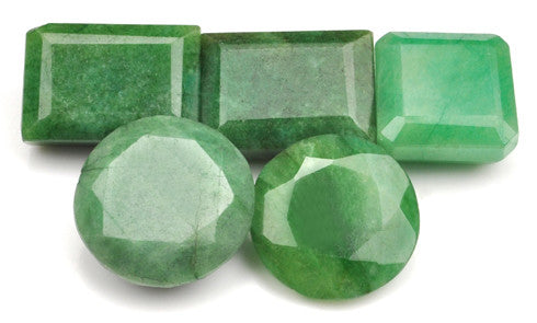 100% NATURAL GREEN EMERALD 190.00 CARATS MIXED SHAPES LOOSE GEMSTONES 5PCS. WHOLESALE LOT WITH FREE CERTIFICATE