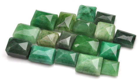 100% NATURAL GREEN EMERALD 189.20 CARATS MIXED SHAPES LOOSE GEMSTONES 15PCS. WHOLESALE LOT WITH FREE CERTIFICATE