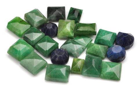 100% CERTIFIED NATURAL BLUE SAPPHIRE ,EMERALD 204.60 CARATS MIXED SHAPES 22PCS/LOOSE GEMSTONES WHOLESALE LOT
