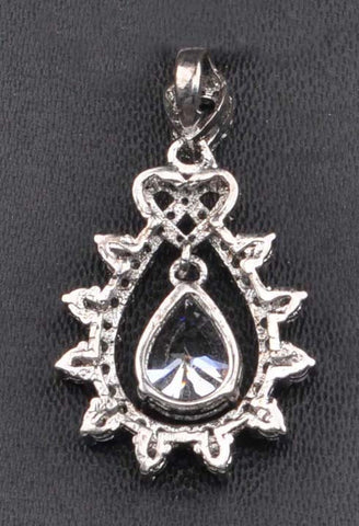 2.75 CARATS WONDERFUL PEAR SHAPE 925 STERLING SILVER SOLITAIRE PENDANT