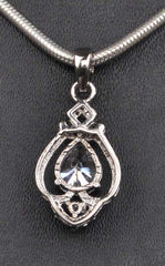 2.65 CARATS 925 STERLING SILVER BEAUTIFUL PEAR SHAPE SOLITAIRE PENDANT - WITHOUT CHAIN