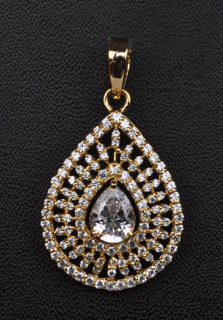 2.80 CARATS REAL 18KT SOLID GOLD FABULOUS PEAR SHAPE SOLITAIRE WOMEN'S PENDANT