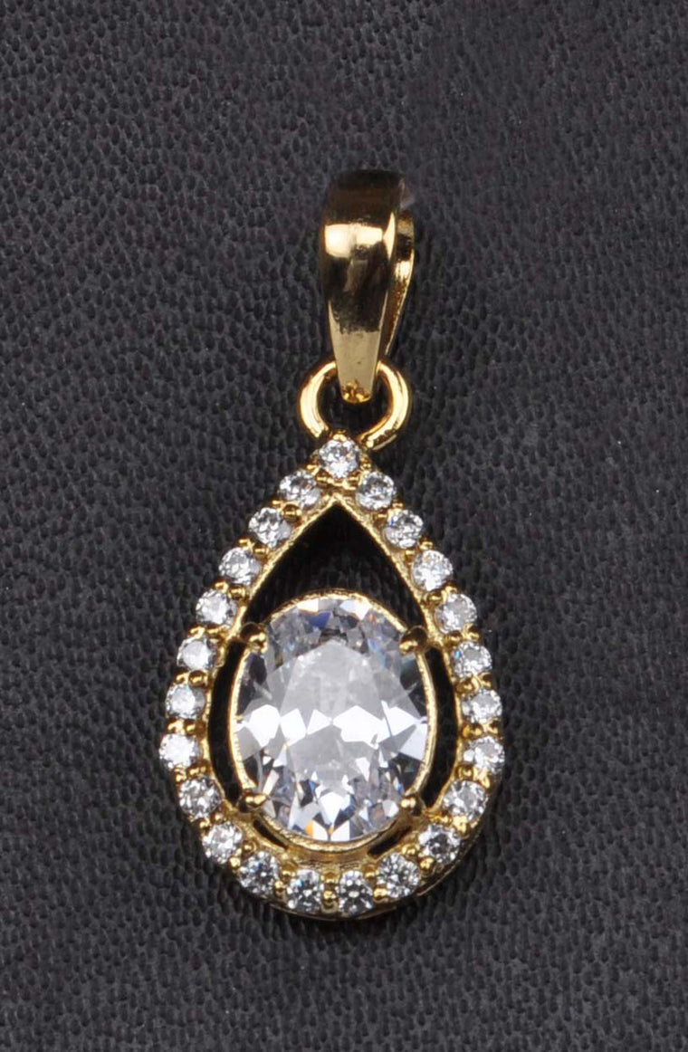3.30 CARATS REAL 18K SOLID GOLD GOOD QUALITY OVAL SHAPE SOLITAIRE PENDANT - WITHOUT CHAIN