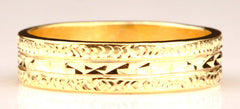 14KT SOLID GOLD DESIGNER ENGAGEMENT & WEDDING BAND