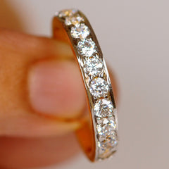 1.35 CARATS BEAUTIFUL ROUND SHAPE 14KT SOLID GOLD SOLITAIRE WEDDING BAND