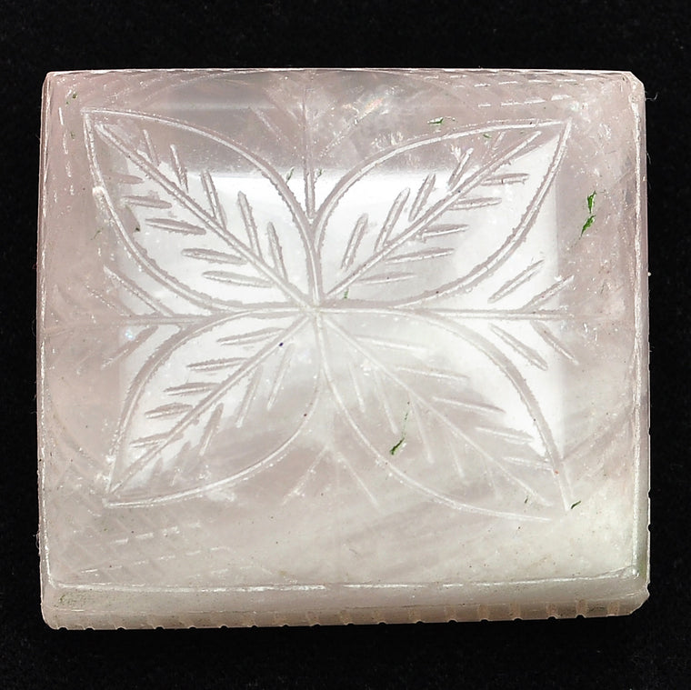 487.79 CARATS 100% NATURAL ROSE QUARTS HAND CARVED RECTANGLE SHAPE LOOSE GEMSTONE WITH FREE CERTIFICATE