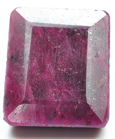 100% NATURAL RED RUBY 373.95 CARATS LOOSE GEMSTONE CARVED OCTAGON SHAPE WITH FREE CERTIFICATE