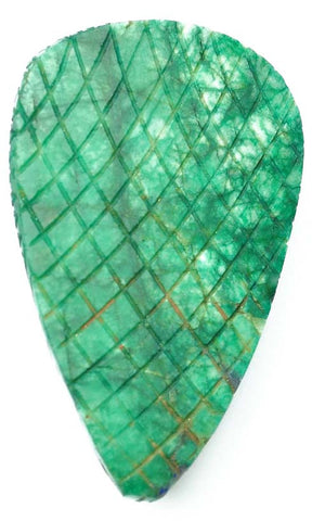 100% CERTIFIED NATURAL GREEN EMERALD CARVED 559.60 CARATS PEAR SHAPE LOOSE GEMSTONE