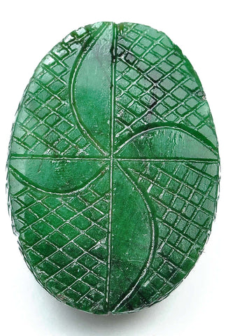 232.00 CARATS 100% NATURAL GREEN EMERALD CARVED OVAL SHAPE LOOSE GEMSTONE WITH FREE CERTIFICATE