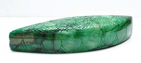 100% CERTIFIED 3760.00 CARATS MARQUISE SHAPE NATURAL GREEN EMERALD CARVED LOOSE GEMSTONE