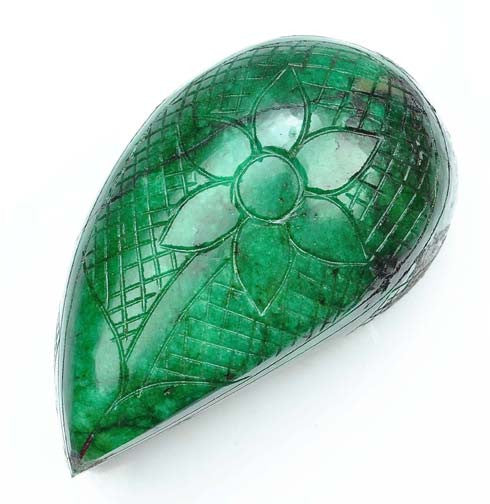 100% CERTIFIED 2405.00 CARATS FANCY SHAPE NATURAL GREEN EMERALD CARVED LOOSE GEMSTONE