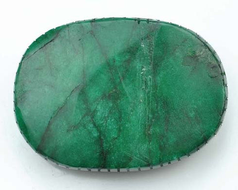 100% CERTIFIED 1160.00 CARATS OVAL SHAPE NATURAL GREEN EMERALD CARVED LOOSE GEMSTONE