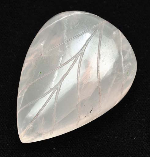 371.00 CARATS 100% NATURAL ROSE QUARTS CARVED PEAR SHAPE LOOSE GEMSTONE WITH FREE CERTIFICATE