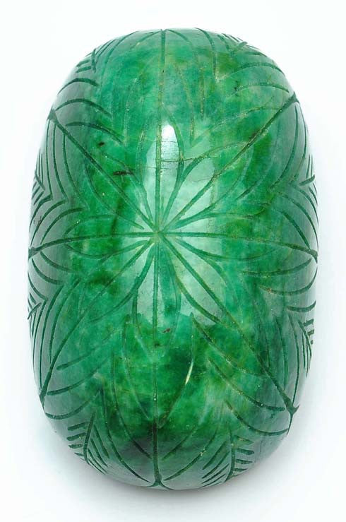 100% CERTIFIED 1096.00 CARATS OVAL SHAPE NATURAL GREEN EMERALD CARVED LOOSE GEMSTONE