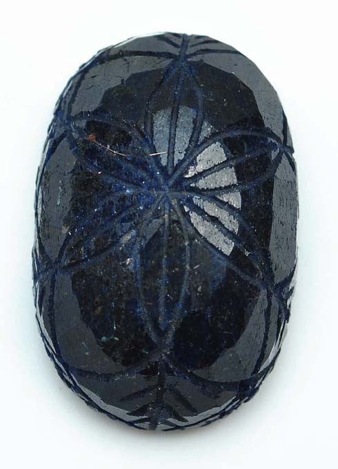 283.15 CARATS OVAL SHAPE 100% NATURAL BLUE SAPPHIRE CARVED LOOSE GEMSTONE WITH FREE CERTIFICATE