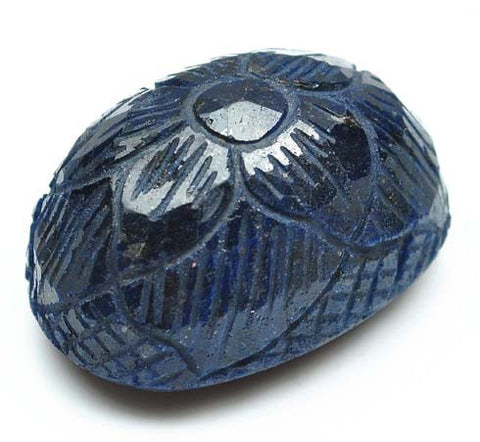 349.75 CARATS OVAL SHAPE 100% NATURAL BLUE SAPPHIRE CARVED LOOSE GEMSTONE WITH FREE CERTIFICATE